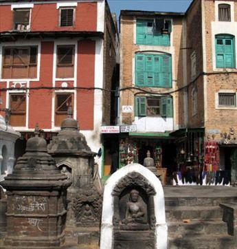 Around the swayambhu stupa there are shops