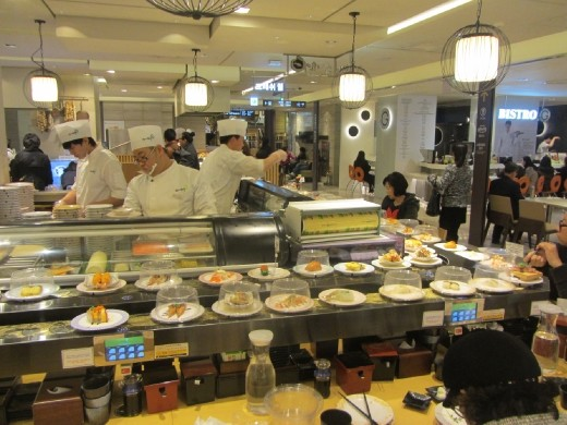 Welcome to the Sushi Belt  (inside Lotte Department Store Myeongdong)