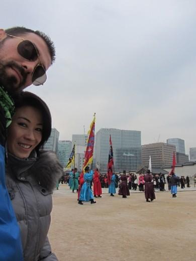 Gyeongbokgung Palace (경복궁) in northern Seoul.