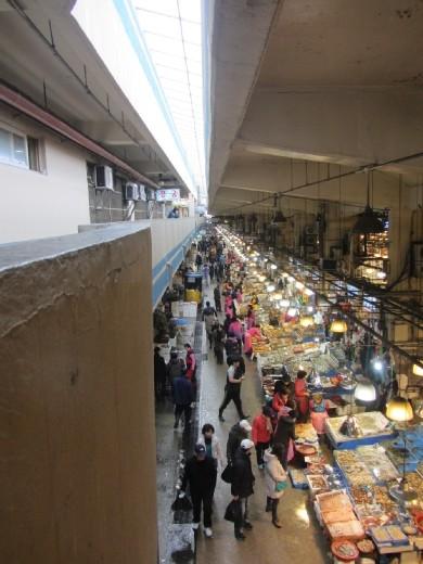 노량진 수산시장      Noryangjin Fisheries           Wholesale Market