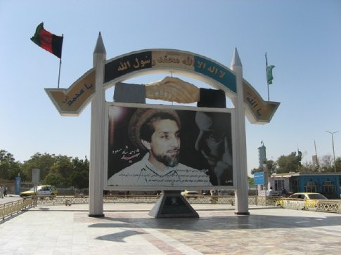 Retrato de Massoud en Mazar.