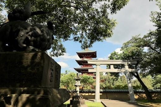 Torii Gate and Pagoda, Saishoin Temple Hirosaki