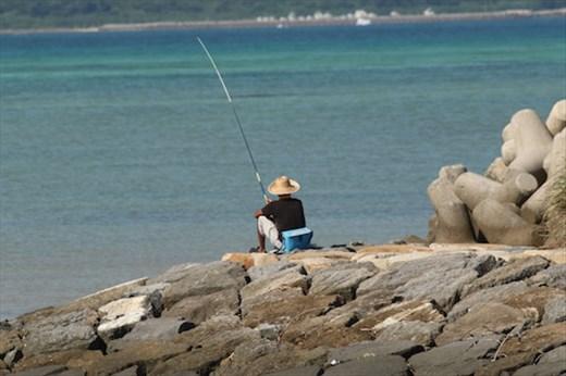 Lone fisherman, Ishigaki