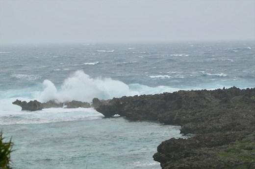 Stormy seas, Shiratori Xaki Park, Irabu
