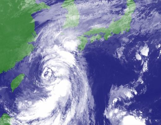 Typhoon Tapah, right over Miyakojima . . . and us!