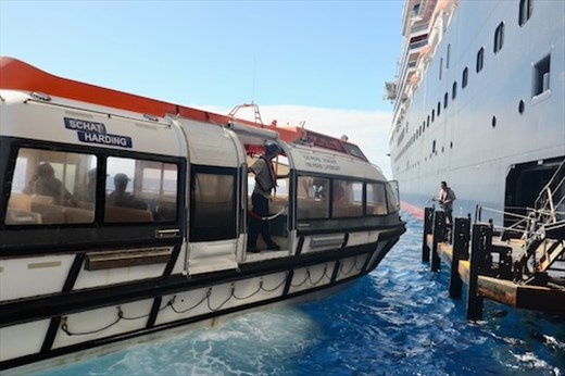 Disembarking the Tender, Holland America Noordam
