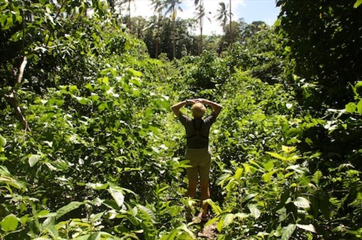 Connie in the bush, Kitava Island, PNG