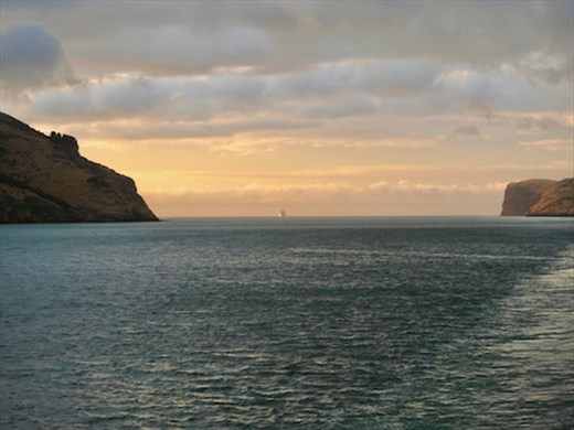 Akaroa with the Princess ship following behind