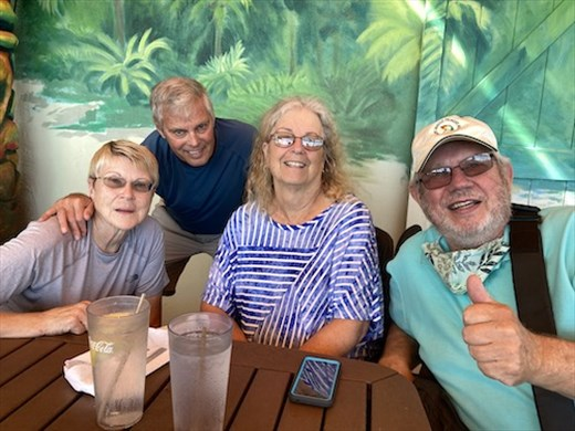 Connie, John, Lois and Rod at Cocoa's on the Beach