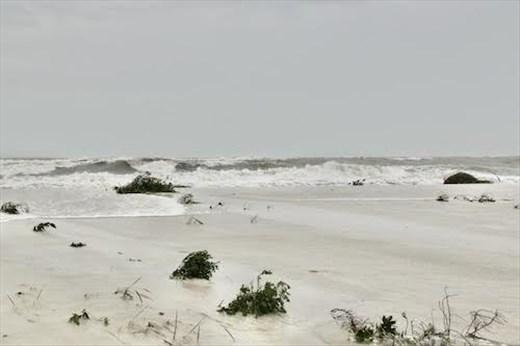 Our beach is underwater