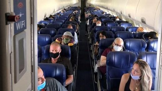 Social distancing at 30,000 feet
