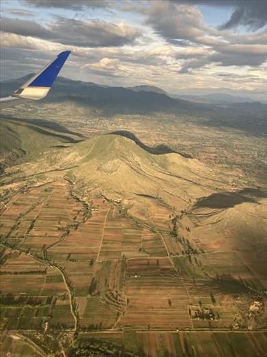 Almost Oaxaca—view from plane window