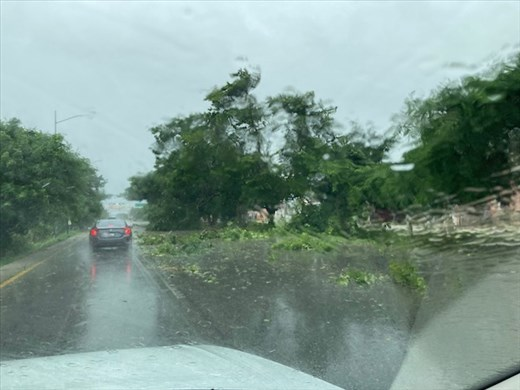 Hurricane Grace and us on our way to Merida