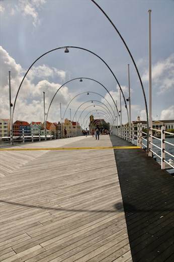 The Floating Bridge to Fort Amsterdam