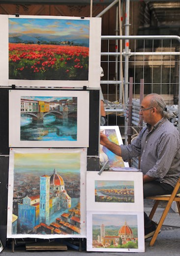 They are still painting in Florence