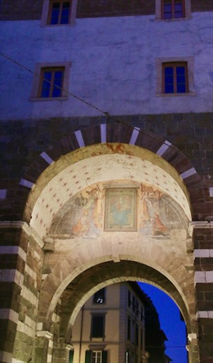Fresco under the arch