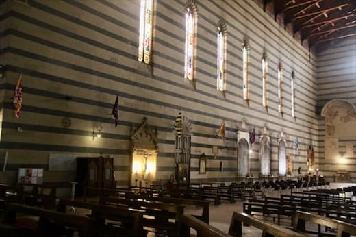 Contrade flags in Basilica San Franceso