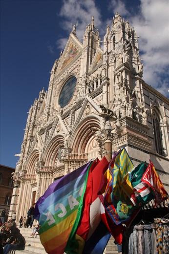 Duomo and Contrade flags