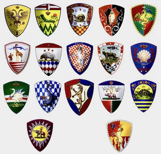Logos of the Contrade of Siena