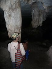 Inside the cave with our young 12 year old guide 'Dat'.: by gretch_costa, Views[122]