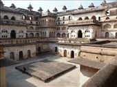 Raj Mahal, one of two massive palaces that surround Orchha: by gretch_costa, Views[178]