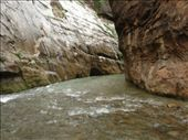 A long, deep stretch of river in The Narrows....the water was up to my chest...brrrrr: by gscottie, Views[339]
