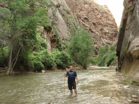 Me at the culmination of my trek through The Narrows