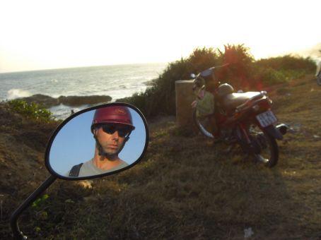 on the bike in Mui Ne