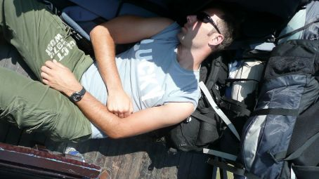 ...siesta on the boat to Cambodia