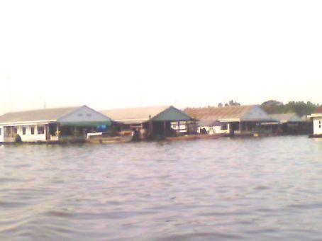 Mekong Delta - floating village on Mekong