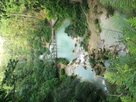 Waterfall and pools near Luang Prabang