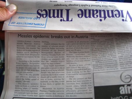...even Austria is in the Laos newspaper