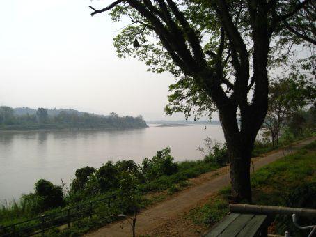 finally the Mekong border view to Laos