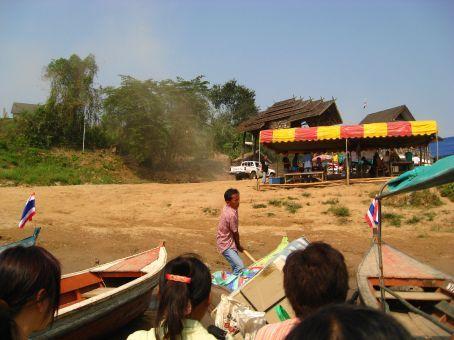 border crossing into Laos