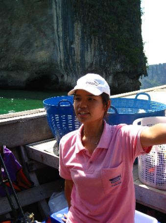 four islands tour from Ao Nang, our tour guide, barely english but always smiling....))