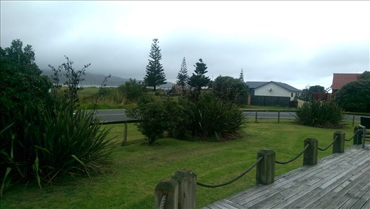 Home sweet home - View from the porch of Tokerau Beach