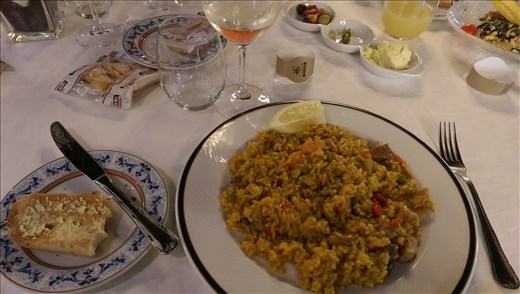 When in Spain, eat paella!