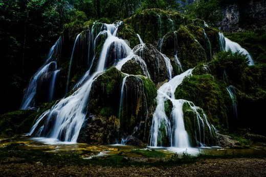 The cascade des tufs in French Jura, a beautiful hidden place, like so many in France.