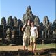 Jason and I outside of Bayon, the MAssive Temple with the most amazing head sculptures all over it. by: h1annah Views[350]