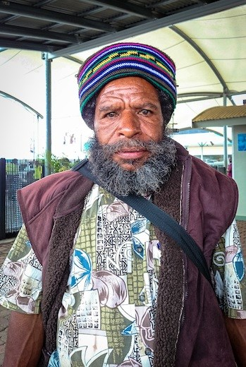 Portrait of a man from the Papuan highlands.