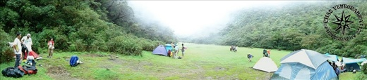 Camp Site, old crater of a sleeping volcano.. Awesome campsite!