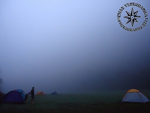 Early Morning at the campsite cover with fog!
