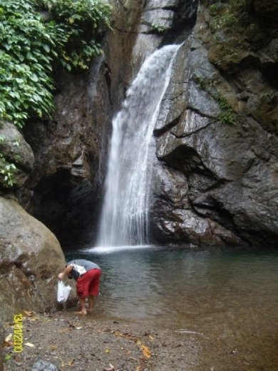 Clean-up at macalbag Falls in Barbaza Antique