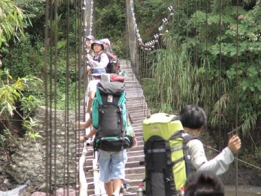 hanging Bridge at Sibalom National Park