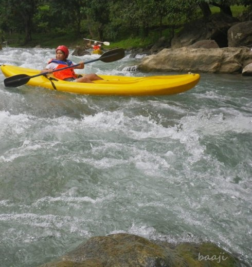 white water kayak in Tibiao