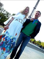 A newly married couple poses before the Eiffel Tower, Paris.: by hallikurke, Views[381]