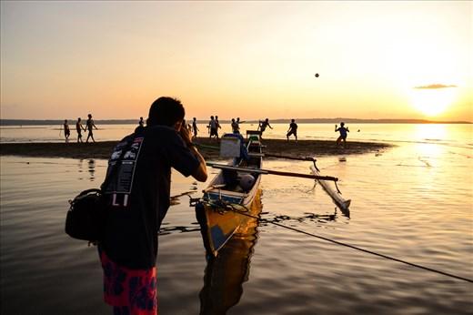 Golden time, golden sunset, golden moment in Selayar Island, Indonesia