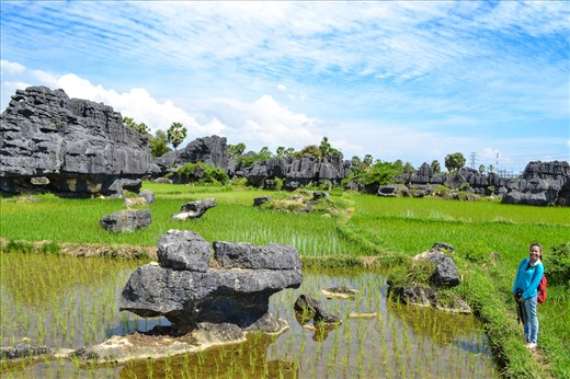 Karst Maros in Indonesia is the second biggest Karst area in the world