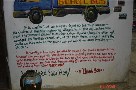 The bus that we donated to at the organice farm.