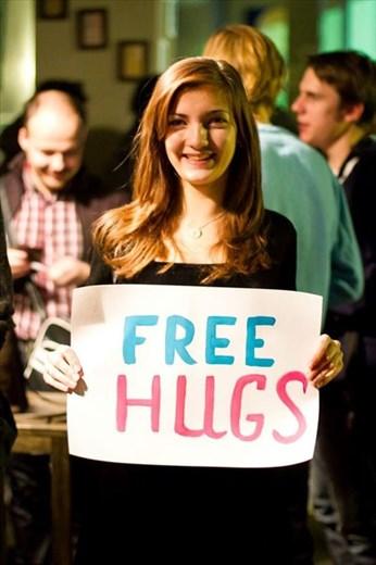 Free hugs flashmob